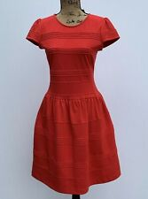 New Anthropologie Girls From Savoy Red Ponte Dress Size 6 Capsleeve $148 NWT