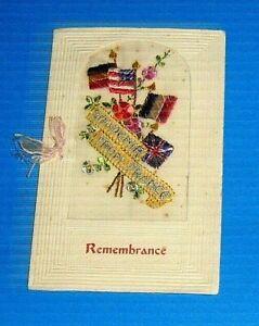 WW1 Card Remembrance Souvenir of France