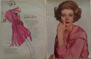 1959 redhead pink silk Maria Krum blouse David Webb Coral jewelry ad
