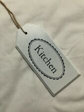 Hanging White Kitchen Decor Sign~Shabby Chic Farm style Distressed LOW Ship!