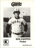 1975 Phoenix Giants Circle K #10 Bob Knepper - NM-MT