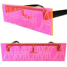America Engraved Party Rave Festival Costume Futuristic Novelty Pink Sunglasses