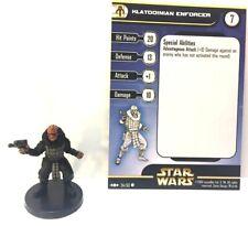 Star Wars Clone Strike 54/60 Klatooinian Enforcer (C) Miniature