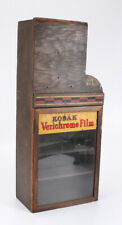 KODAK FILM DISPLAY CASE, WOODEN, ABOUT 27 INCHES TALL/cks/214124