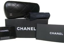 NEW AUTHENTIC CHANEL QUILTED HARD L SUN GLASS CASE