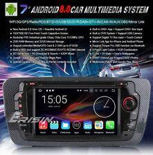 "AUTORADIO 7"" Android 8.0 Octa core Seat Ibiza Bluetooth Navigatore comandi vol"