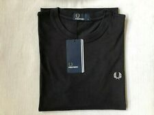 MENS FRED PERRY CREW NECK T SHIRT NEW WITH TAGS SIZE  SMALL (BLACK)
