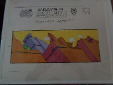 Taz-Mania Animated Series Original Animation Hand Painted Background Model Cel A
