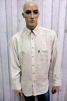 BARBOUR Taglia XL Camicia Uomo Cotone Shirt Multicolore Casual Manica Lunga
