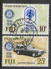 FIJI 1976 40th Anniv of ROTARY Set 2v USED