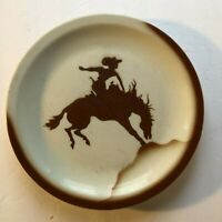 Vintage Restaurant Ware Dinner Plate Cowboy Bronco Horse Jackson China USA Made