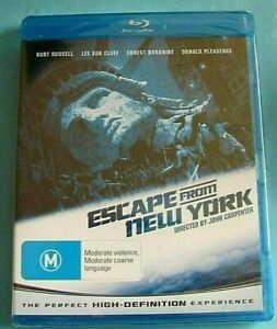 ESCAPE FROM NEW YORK BLU-RAY Kurt Russell NEW SEALED