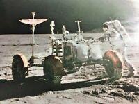 Vintage Photo Print Astronaut at Irwin Rover Mount Hadley NASA Space Collectible