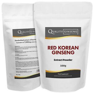 Rouge Coréen Ginseng Extrait - 10:1 - Pure Rouge Panax - Force & Qualité