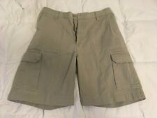 High Sierra Cargo Shorts 100 % Cotton Khaki/Light Brown Color Size 34 Very Nice