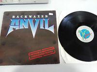 """ANVIL BACKWAXED LP VINILO VINYL 12"""" 1985 ROADRUNNER HOLLAND EDITION VG/VG - AG"""