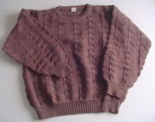 Maglioncino donna marrone, maglia lavorata, misto lana, tg xl