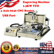 Usb 4 Axis Cnc 6040 Router Engraver Milling Machine Woodworking Engraving 15kw