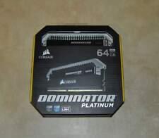 New listing Corsair Dominator Platinum 64Gb (4x16Gb) Ddr4 Desktop Memory Cmd64Gx4M4C3000C15