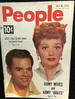 """I LOVE LUCY"" SCARCE ORIGINAL 1952 COVER ISSUE OF ""PEOPLE TODAY"" MINI-MAG!!!!!"