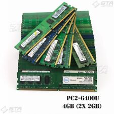 4GB (2x 2GB) Desktop Memory Ram 2Rx8 PC2-6400U ,Different brand,Random shipping