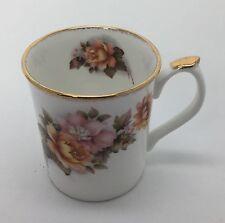 Elizabethan Staffordshire Yellow Rose Hand Decorated Bone China Mug England