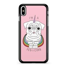 Im A Pugicorn Dog Unicorn Funny Cute Animal Rainbow Clouds 2D Phone Case Cover