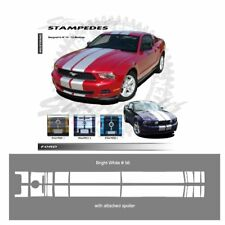 Ford Mustang 2010-2012 w/ Lip Spoiler Ralley Stripes Graphic Kit - Bright White