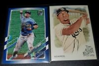 2021 Topps Series 1 Willy Adames Blue Parallel Tampa Bay Rays  5 card lot