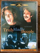 Alan Rickman TRULY MADLY DEEPLY ~ Classic 1991 British Supernatural Weepy UK DVD