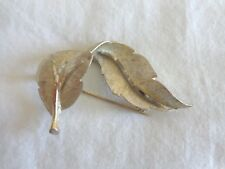 B.S.K. White/Gold Colored Pin/Brooch (#0489)