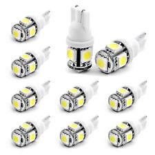10PCS  Wholesale T10 194 168 2825 5X 5050 SMD LED White Car Lights Lamp Bulb New