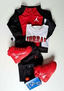 Air Jordan Kids Hoodie Tracksuit 3 Pieces 12 M / Patrick Ewing Shoes US 7 Set.
