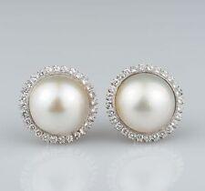 18 Carat White Gold Vintage Fine Earrings