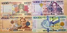 C) SIERRA LEONE BANK NOTES SET 4 PCS  UNC ND 2010 -2013