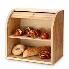 G.A homefavor 2-couche bambou pain Bin avec amovible couche, Auto Assemblage