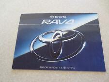 1995 Toyota RAV4 automobile advertising booklet - UK