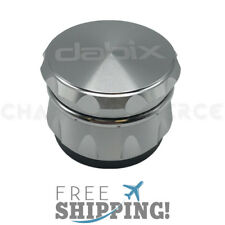 4 Piece Magnetic 2.4 Inch Aluminum Herb Spice Grinder - Silver