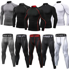 Men's Compression Base Layer Mock Neck Shirt Athletic Legging Wicking Quick-dry