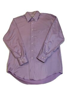 Marshall Fields Mens Non-iron/stain Resistant 80's 2-ply Twill Size 16 32/33