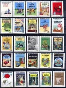 [P229] Belgium 2007 TINTIN complete set very fine MNH stamps