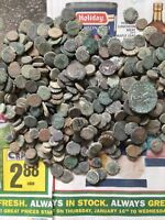 uncleaned and unsorted Greek desert coins from Israel , Each Bid is per coin !