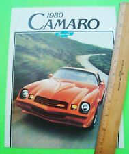1980 CHEVROLET CAMARO DLX COLOR CATALOG Brochure w/ Z-28 and RS 16-pgs IROC Xlnt