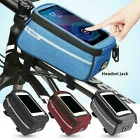 1* Bicycle Tube Bag Front Pockets Mount Holder Case Accessories Cycling R6W7