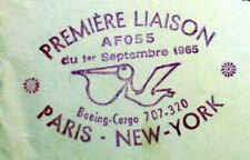 1965 PARIS NEW YORK BOEING CARGO 707-320 AIR FRANCE Premier vol AC61