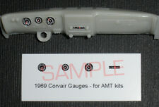 1969 CHEVROLET CORVAIR GAUGE FACES for 1/25 scale AMT KITS