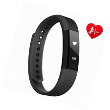 Lintelek Activity Tracker, Slim Fitness Tracker with Heart Rate Monitor, Step Co