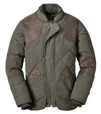 EDDIE BAUER SKYLINER DOWN QUILTED HUNTING JACKET TIN SHELTER CLOTH WAXED COTTON