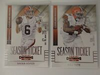 2014 Panini Contenders Cleveland Browns Team Set of 2 Football Cards