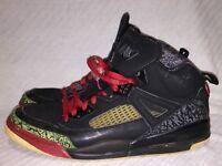 Men's Size 13 Nike Air Jordan Spizike Black Varsity Red Classic Green 315371-061
